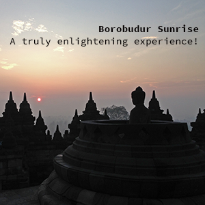 Borobudur Sunrise ads example